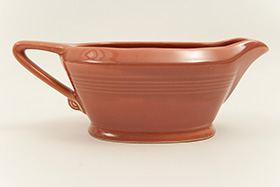 Harlequin Sauce Boat Original Rose Glaze Happy Heidi For Sale