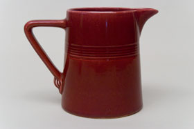 Vintage Harlequin Original Maroon 22 ounce jug or milk pitcher: Harlequin Dinnerware 30s 40s American Solid Color Dinnerware For Sale