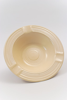 Vintage Fiesta Pottery Ashtray in Original Ivory Glaze for Sale