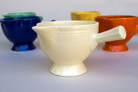 Vintage Fiesta Pottery Stick Handled Creamer for Sale