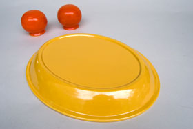 Kitchen Kraft Platter in Original Yellow: Hard to Find Go-Along Fiestaware Pottery For Sale