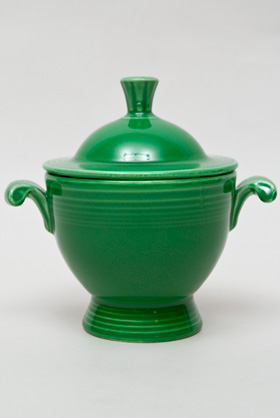 Vintage Fiesta Medium Green Sugar Bowl  Fiestaware Pottery Vase: Gift, Rare, Hard to Find, Buy Online Now, American Antique Pottery