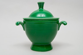 Vintage Fiesta Medium Green Sugar Bowl  Fiestaware Pottery Vase: Gift, Rare, Hard to Find, Buy Onlline Now, American Antique Pottery