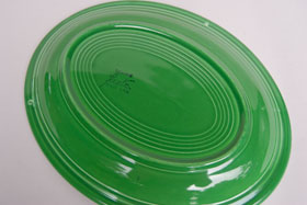 Vintage Fiesta Medium Green Platter  Fiestaware Pottery Vase: Gift, Rare, Hard to Find, Buy Onlline Now, American Antique Pottery