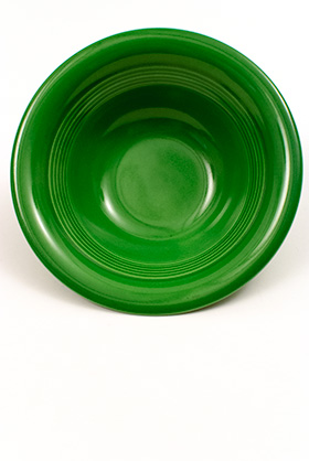 Vintage Harlequin Pottery 36S Bowl Medium Green Deep Plate For Sale