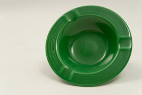 Vintage Fiesta Medium Green Ashtray: Gift, Rare, Hard to Find, Buy Onlline Now, American Antique Pottery