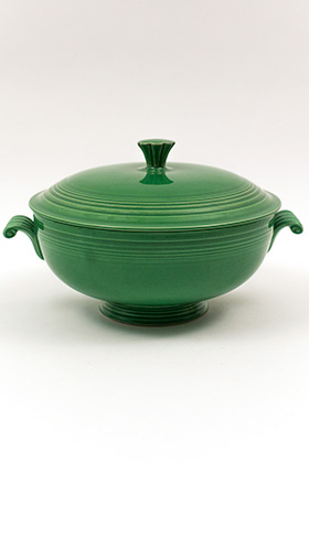 Vintage Fiesta Medium Green Covered Casserole