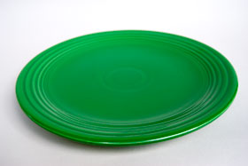 Vintage Fiesta Medium Green Chop Plate  Fiestaware Pottery Vase: Gift, Rare, Hard to Find, Buy Onlline Now, American Antique Pottery
