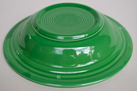 Vintage Fiesta Medium Green Deep Plate  Fiestaware Pottery Vase: Gift, Rare, Hard to Find, Buy Onlline Now, American Antique Pottery