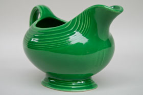 Vintage Fiesta Medium Green Sauce Boat  Fiestaware Pottery Vase: Gift, Rare, Hard to Find, Buy Onlline Now, American Antique Pottery