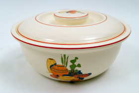 Vintage Mexicana Homer Laughlin Fiesta Kitchen Kraft Decalware Covered Casserole