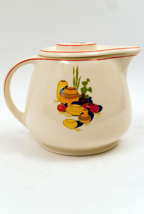 Vintage Mexicana Homer Laughlin Fiesta Kitchen Kraft Decalware Covered Jug