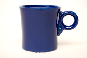 Vintage Fiestaware Cobalt Tom and Jerry Mug: Fiesta Dinnerware 30s 40s 50s 60s For Sale