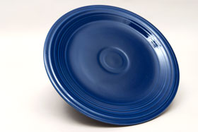 Vintage Fiesta Cobalt Blue 9 Inch Plate  Fiestaware Pottery Vase: Gift, Rare, Hard to Find, Buy Onlline Now, American Antique Pottery