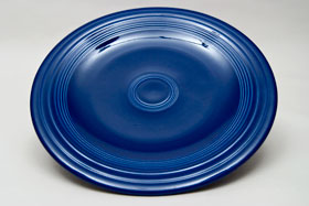 Original Cobalt Blue Fiesta 10 inch Dinner Plate Fiestaware Pottery For Sale
