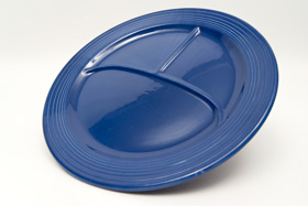 Vintage Fiesta Divided Plate in Cobalt Blue