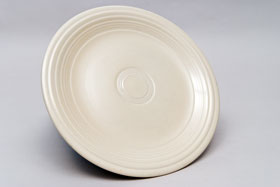 Vintage Fiesta Ivory 9 Inch Plate  Fiestaware Pottery Vase: Gift, Rare, Hard to Find, Buy Onlline Now, American Antique Pottery