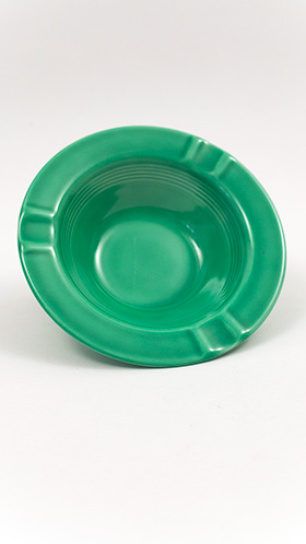 Harlequin Pottery Regular Ashtray in Original Light Green