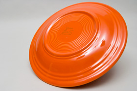 Radioactive Red Fiesta 9 inch luncheon plate Fiestaware Pottery For Sale