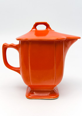 Riviera Pottery Covered Syrup in Red for Sale Vintage Homer Laughlin Pottery 30s 40s Fiestaware Americana Dinnerware