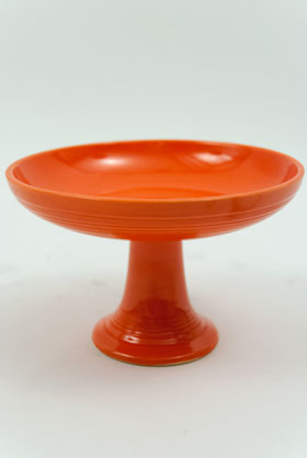 Fiestaware Vintage Radioactive Red Sweets Comport FIesta Pottery For Sale
