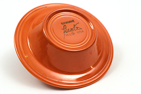 Vintage Fiesta Pottery Ashtray in Original Red Glaze