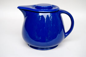 Kitchen Kraft Covered Jug in Original Cobalt: Hard to Find Go-Along Fiestaware Pottery For Sale