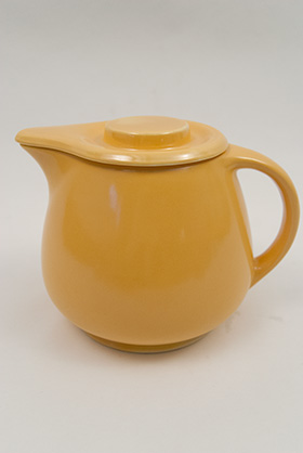 Kitchen Kraft Covered Jug in Original  Green: Hard to Find Go-Along Fiestaware Pottery For Sale