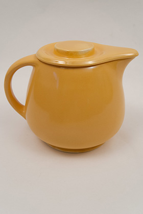 Kitchen Kraft Covered Jug in Original Yellow: Hard to Find Go-Along Fiestaware Pottery For Sale