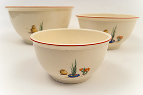 Conchita Mexican Themed Fiesta Homer Laughlin Kitchen Kraft Nesting Bowl Set