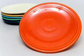 Red Fiesta Plate Vintage Fiestaware 6inch Bread Butter Solid Color Ringware Collectable Tableware