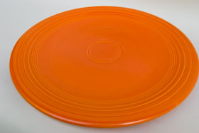 Red Fiesta Vintage 15 inch Chop Plate Fiestaware For Sale Old Authentic