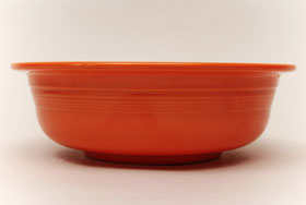 Radioactive Red Vintage Fiesta Nappy Vegetable Bowl Fiestaware Pottery For Sale