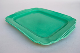 Riviera Pottery Batter Tray in Original Green Glaze for Sale