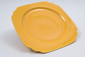 Vintage Riviera Pottery Yellow 9 inch Luncheon Plate