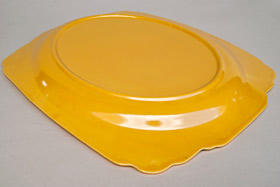 Riviera Pottery Plain Well Platter in Original Yellow Glaze for Sale