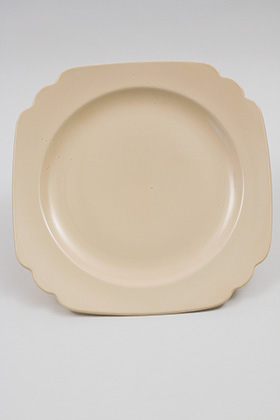 Vintage Riviera Pottery Original Ivory Ten Inch  Large Dinner Plate