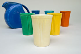 Riviera Pottery for Sale: Ivory Juice Tumbler from vintagefiestaware.com
