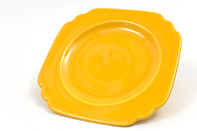 Vintage Riviera Pottery Bread Plate in Yellow Glaze
