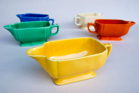 Riviera Pottery for Sale: Original Yellow Sauce Boat from vintagefiestaware.com