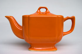 Riviera Pottery Original Red Teapot For Sale