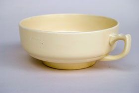 Rare Vintage Homer Laughlin Century Riviera Double Handled Cream Soup Bowl