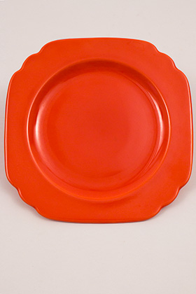 Vintage Riviera Pottery Bread and Butter Plate in Original Fiesta Red Glaze