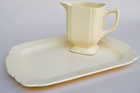 Riviera Pottery for Sale: Ivory Batter Tray from vintagefiestaware.com