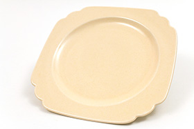 Vintage Riviera Pottery Ivory Vellum 7inch Salad Plate