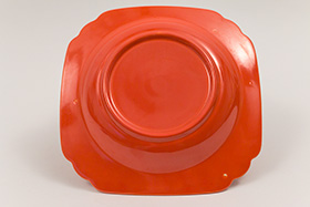 Red Riviera Deep Plate Vintage Homer Laughlin Pottery 30s 40s