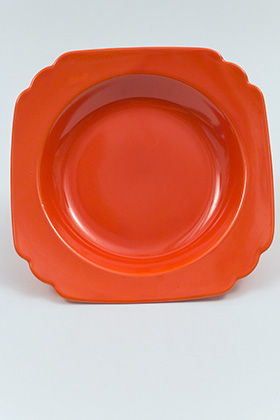Red Riviera Deep Plate