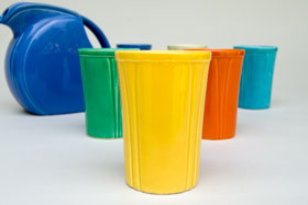 Riviera Pottery and Fiesta Dinnerware  for Sale: Yellow Juice Tumbler from vintagefiestaware.com