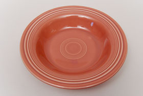 Vintage Fiesta 50s Color Rose Deep Plate: Hard to Find Go-Along Fiestaware Pottery For Sale
