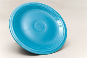 Vintage Fiesta Turquoise 9 Inch Plate  Fiestaware Pottery Vase: Gift, Rare, Hard to Find, Buy Onlline Now, American Antique Pottery
